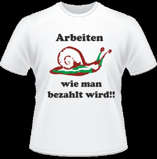 Bedrucktes T-Shirt Arbeiten und Bezahlung