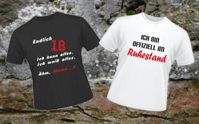 Bedruckte T-Shirts für verschiedene Gelegenheiten