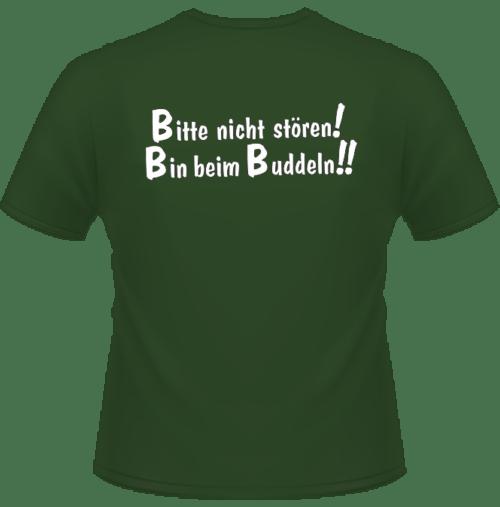 Garten T-Shirt Bin beim buddeln Olivgrün