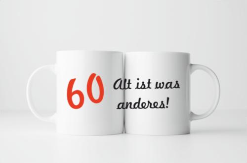 Bedruckte Tasse zum 60. Geburtstag
