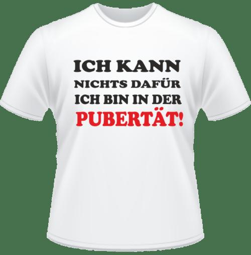 Bedrucktes T-Shirt Jugend in der Pubertät