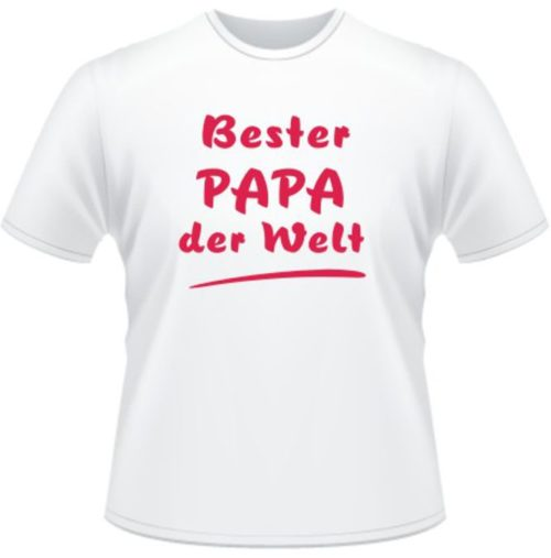 Bedrucktes T-Shirt Bester Papa der Welt