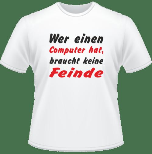 Bedrucktes T-Shirt Mein Feind der Computer