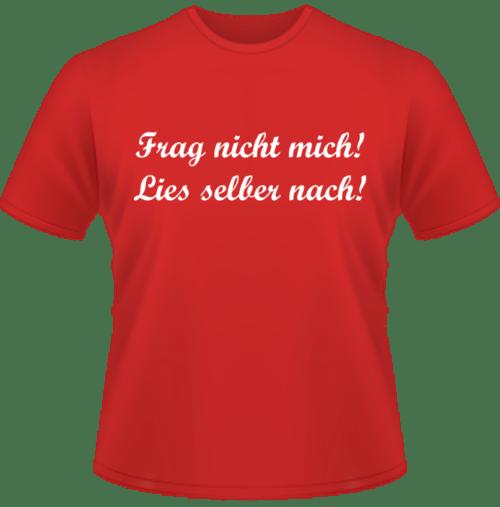 Bedrucktes Kinder T-Shirt Frag nicht mich