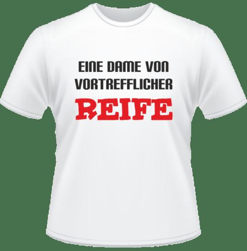 Bedrucktes T-Shirt Dame mit vortrefflicher Reife