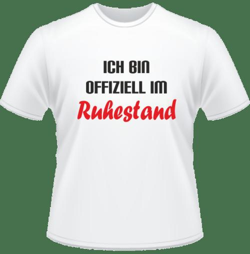 Bedrucktes T-Shirt Offiziell im Ruhestand