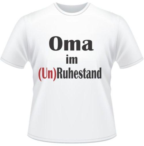 Bedrucktes T-Shirt Oma im Unruhestand