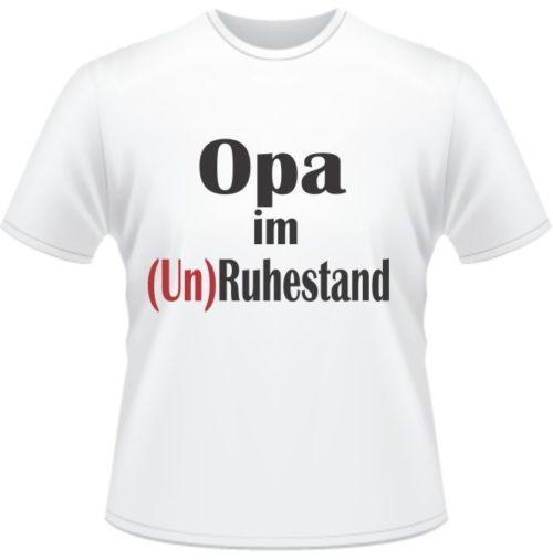 Bedrucktes T-Shirt Opa im Unruhestand