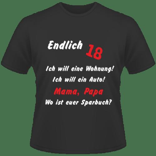 Bedrucktes T-Shirt zum 18. Geburtstag