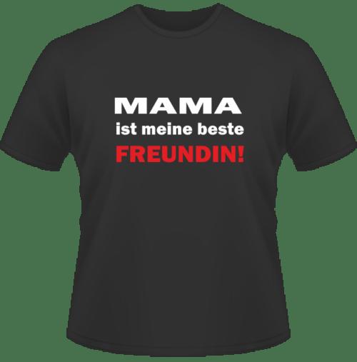 Bedrucktes T-Shirt Mama ist meine beste Freundin