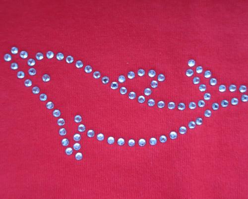 Kinder T-Shirt mit Motiv Delphin aus Strasssteinen