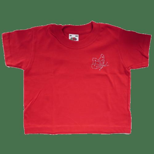 Kinder T-Shirt mit Motiv Schmetterling aus Strasssteinen