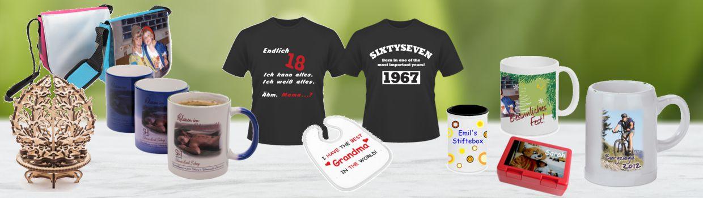 Bedruckte Geschenkideen sowie Vereins- und Firmenbekleidung