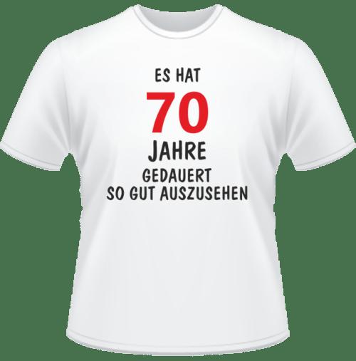 Bedrucktes T-Shirt Es hat 70 Jahre gedauert