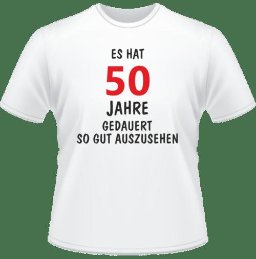 Bedrucktes T-Shirt Es hat 50 Jahre gedauert