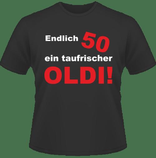 Bedrucktes T-Shirt Ein taufrischer Oldi