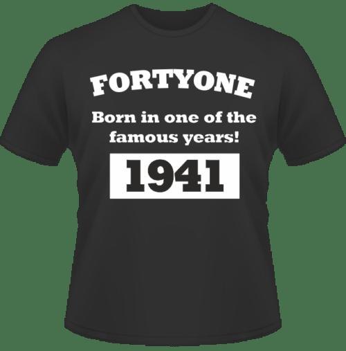 Bedrucktes T-Shirt zum Geburtstag Born in 1941
