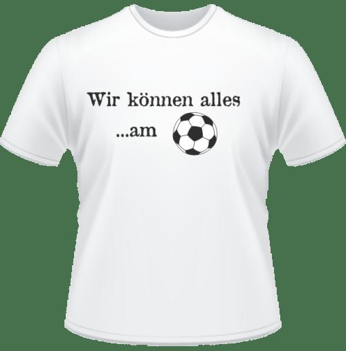 Bedrucktes T-Shirt Können am Ball