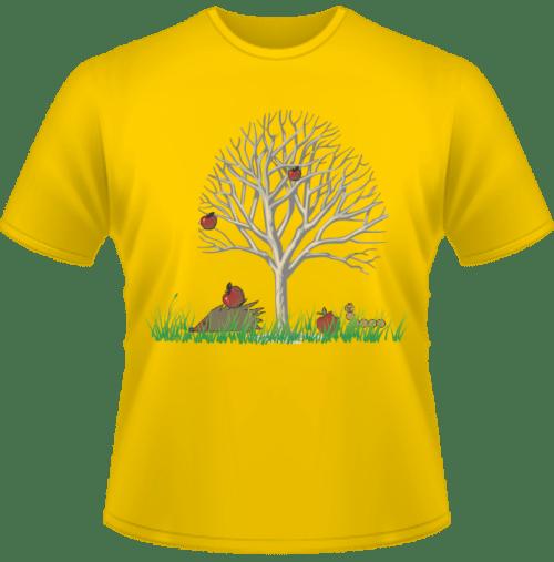 Bedrucktes Kinder T-Shirt Herbst