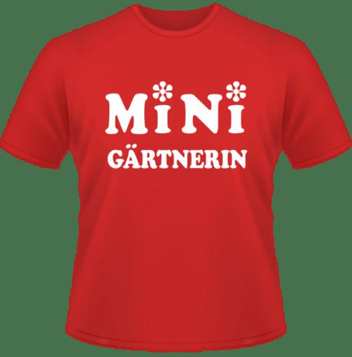 Bedrucktes T-Shirt Mini Gärtnerin